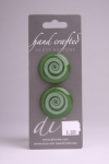 Juniper Circle Button with White Swirl Design