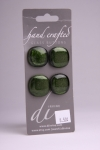 Olive Green - Set of 4 Glass Buttons