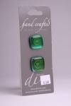 Coral Green - Set of 2 Glass Buttons