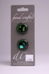 Olive Green - Set of 2 Glass Buttons