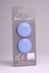 Periwinkle Blue Circle Button with an Enchanted Design
