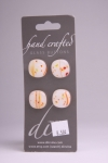 White and Sunset Detail - Set of 4 Glass Buttons