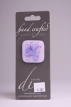 Light Purple with Blue and Violet Detail Glass Button