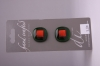 Olive Green with Metallic Red Glass Buttons