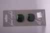 Metallic Deep Green Glass Buttons