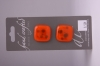 Orange Square Button with an Elaborate Design
