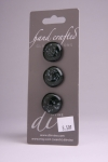 Black with Cream Specs - Set of 3 buttons