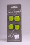 Yellow Green with Dark Border - Set of 4 Buttons