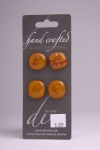 Burnt Orange with Pink - Set of 4 Glass Buttons