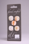 White with Sunset Detail - Set of 5 Glass Buttons