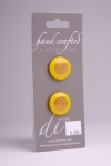Yellow Circle Button with Gold Elegant Design