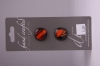 Deep Red with Orange Design Glass Buttons