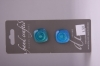 Sea Blue Glass Buttons