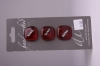Square Red Glass Buttons