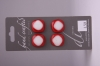 Four Red Square Buttons